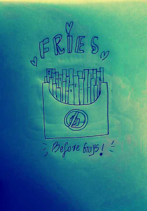 doodle - FRIES Before Guys ! - ShareChat