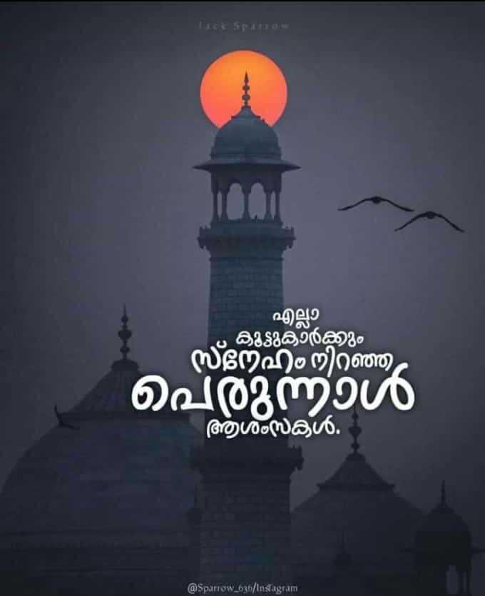 eid mubarak - എല്ലാ ల దితిరిదిరణం ്നേഹം നിറഞ്ഞ പെരുന്നാൾ ആശംസകൾ . @ Sparrow _ 63 / Insagram - ShareChat