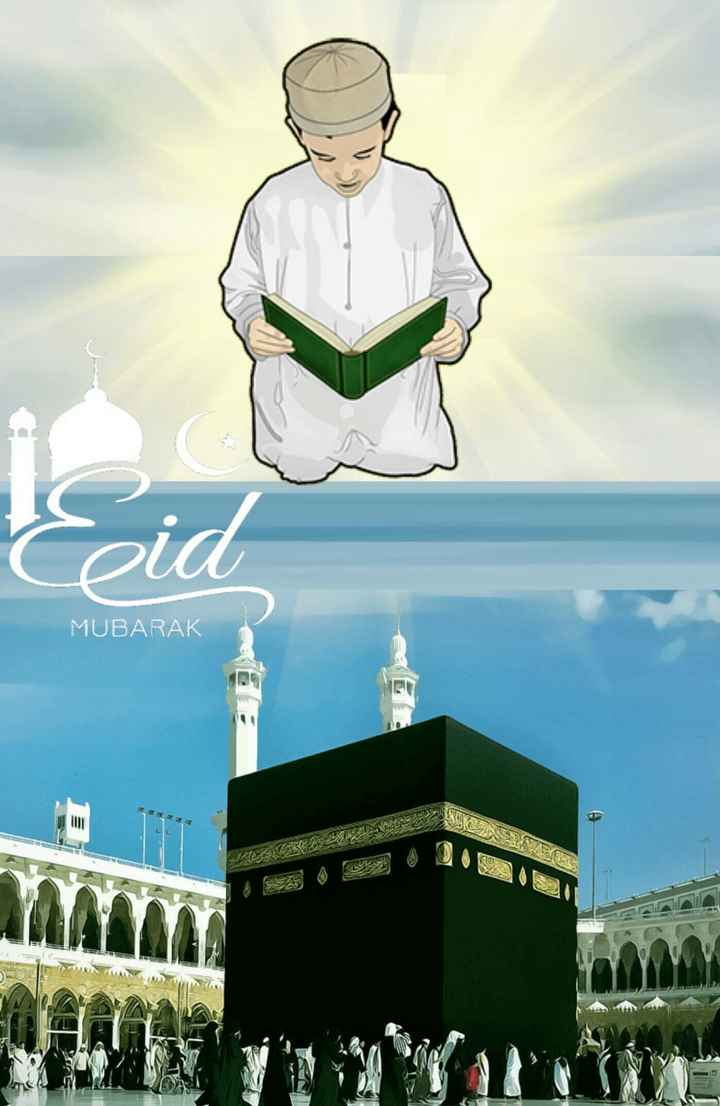🌙🕋 eid mubarak 🕋🌙 - MUBARAK اور اس نے نماز اد ا کرنا - ShareChat