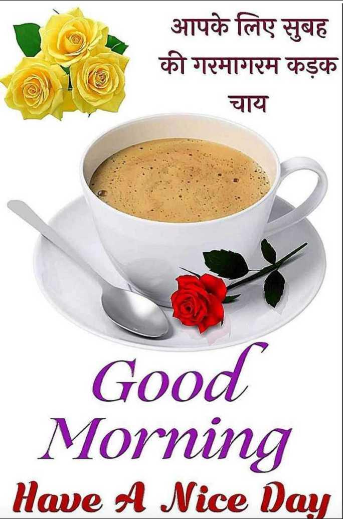 good morning ☕ - आपके लिए सुबह की गरमागरम कड़क चाय Good Morning Have A Nice Day - ShareChat