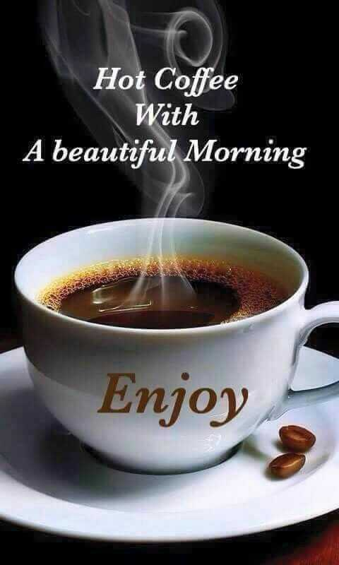 good morning ☕ - Hot Coffee With A beautiful Morning Enjoy - ShareChat