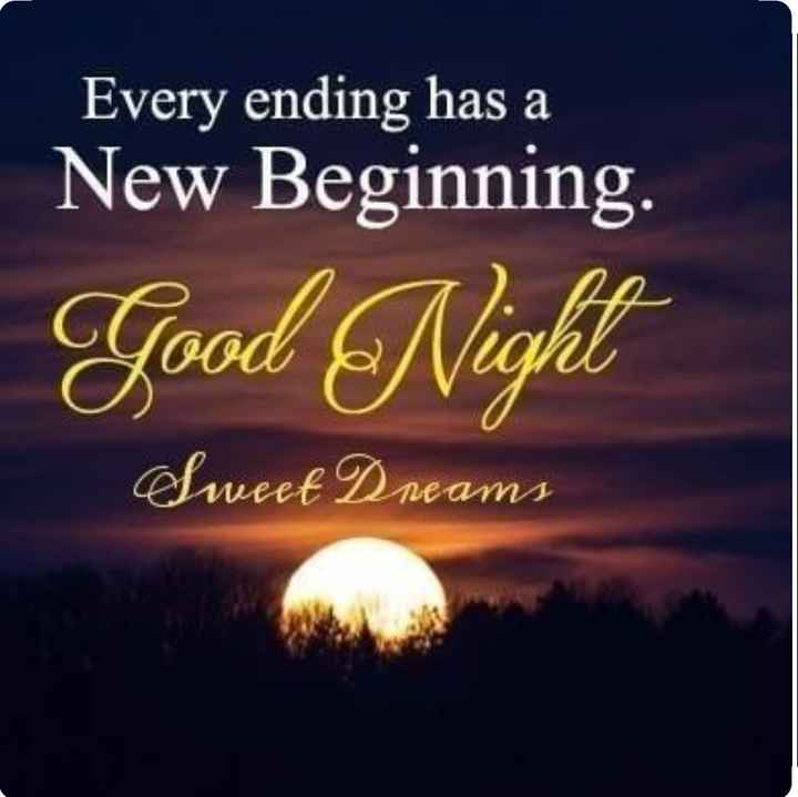 good ni8 - Every ending has a New Beginning . | Good Night Sweet Dreams - ShareChat