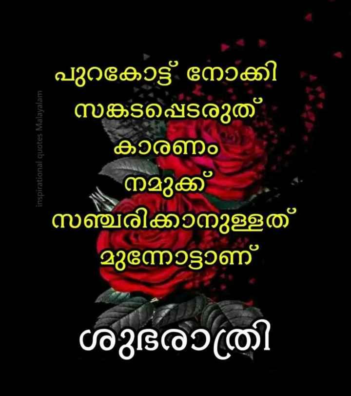 goodnight - inspirational quotes Malayalam പുറകോട്ട് നോക്കി സങ്കടപ്പെടരുത് കാരണം നമുക്ക് സഞ്ചരിക്കാനുള്ളത് മുന്നോട്ടാണ് ശുഭരാത്രി - ShareChat