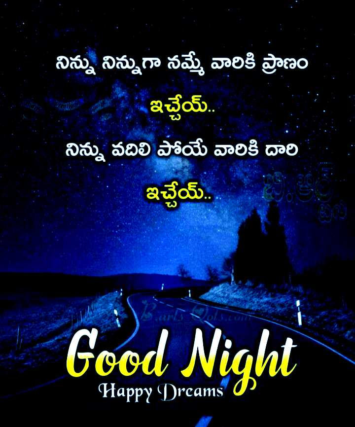 good night 💐 - మ్ . . నిన్ను నిన్నుగా నమ్మే వారికి ప్రాణం ఆ ఇచ్చేయ్ . . నిన్ను వదిలి పోయే వారికి దారి ఇచ్చేయ్ . . . అని ఆ Good Night Happy Dreams 0 - ShareChat