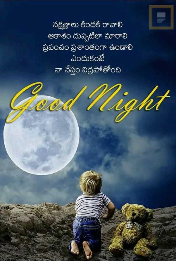 good night 💐 - నక్షత్రాలు కిందకి రావాలి ' ఆకాశం దుప్పటిలా మారాలి | ప్రపంచం ప్రశాంతంగా ఉండాలి ఎందుకంటే నా నేస్తం నిద్రపోతోంది - ShareChat