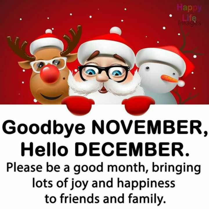 gud mng.... - Happy Te images co Goodbye NOVEMBER , Hello DECEMBER . Please be a good month , bringing lots of joy and happiness to friends and family . - ShareChat