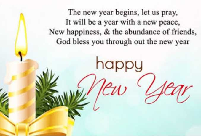 happy - The new year begins , let us pray , It will be a year with a new peace , New happiness , & the abundance of friends , God bless you through out the new year happy New Year - ShareChat