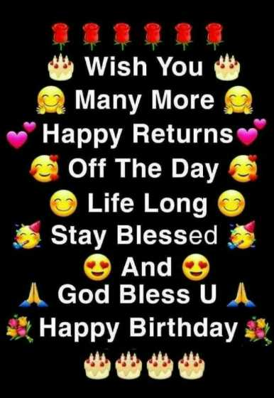 🎂🎉🎀happy birthday🎎🎂🎈 - * * Wish You Many More ~ Happy Returns Off The Day Life Long Stay Blessed And 1 God Bless U U Happy Birthday - ShareChat