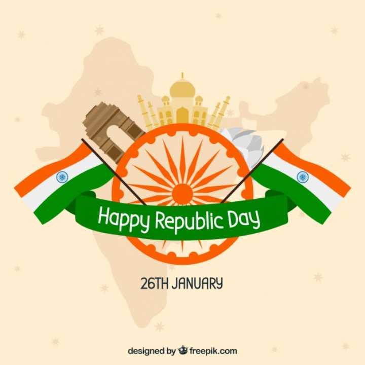 happy republic day🇮🇳 - La Happy Republic Day 26TH JANUARY designed by freepik . com - ShareChat