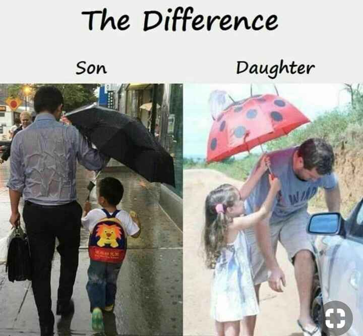 i love you daddy - The Difference Son Daughter - ShareChat