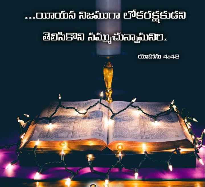 jesus - . . . యీయన నిజముగా లోకరక్షకుడని తెలిసికొని నమ్ముచున్నామనిరి . యోహాను 4 : 42 - ShareChat