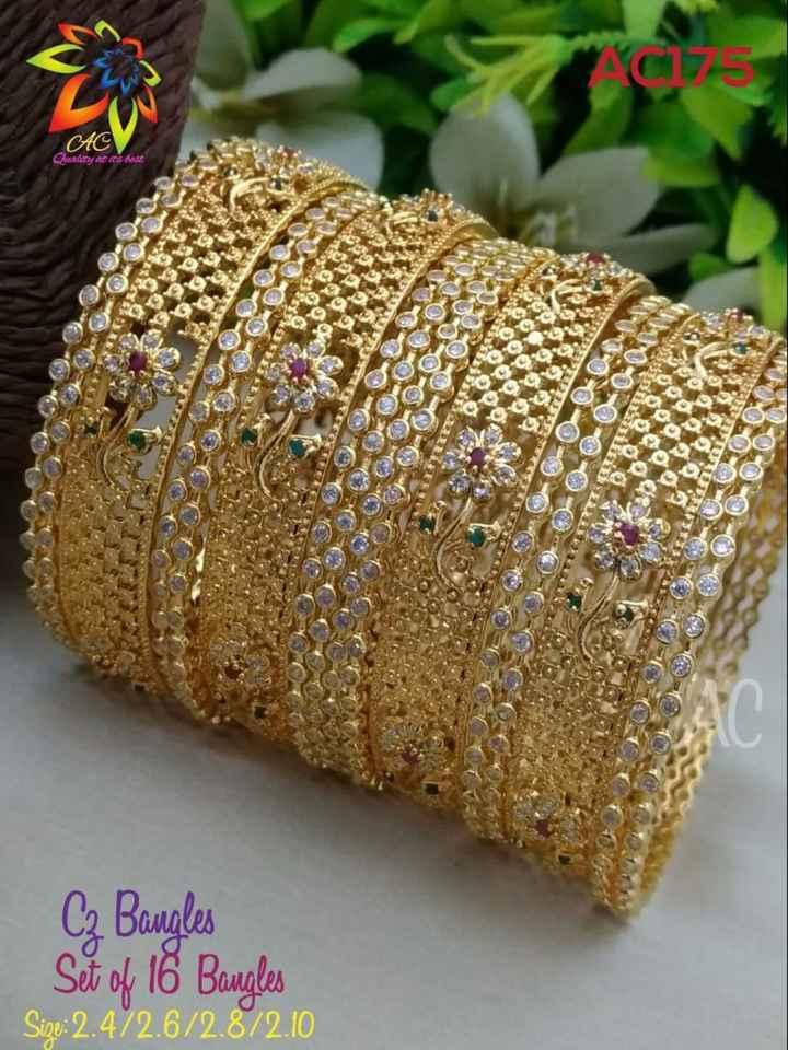 jewellery - C17 CAC Quality at its best SO AQ 203 C₂ Bangles Set of 16 Bangles Sigo : 2 . 472 . 6 / 2 . 8 / 2 . 10 - ShareChat