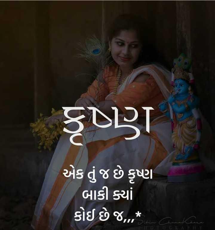 krishna lover - કૃષ્ણ S એક તું જ છે કૃષ્ણ બાકી ક્યાં કોઈ છે જ , * uri Sefin a kan - ShareChat