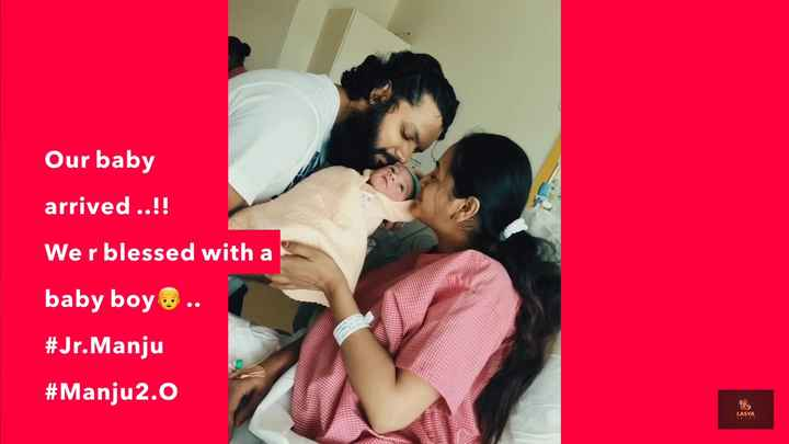 💞lasya pic💞👌 - Our baby arrived . . ! ! Wer blessed with a baby boy . . # Jr . Manju # Manju2 . 0 LASYA - ShareChat
