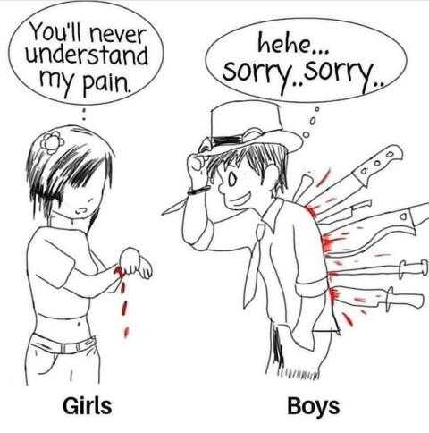 love - You ' ll never understand my pain . hehe . . . sorry . . sorry . ro MAUMI Girls Boys - ShareChat