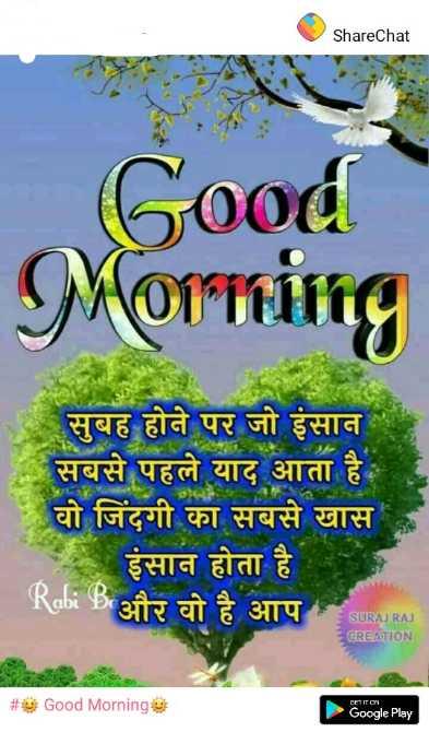 Love you jaan# - ShareChat Good Morning सुबह होने पर जो इंसान सबसे पहले याद आता है वो जिंदगी का सबसे खास इंसान होता है Rabi B और वो है आप TARAN CREATION 23d Good Morningi Google Play - ShareChat