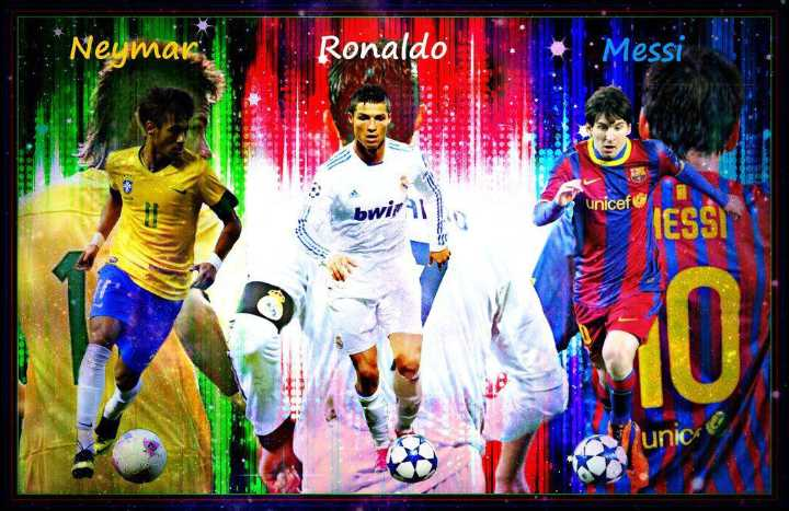 😍 njr vs lm10 vs cr7 - Neumok , Ronaldo Messi bwirl unicef - ShareChat