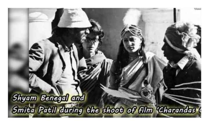 old is gold - Shyam Benegal and Smita Patil during the shoot of film Charandas - ShareChat