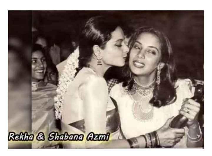 old is gold - Rekha & Shabana Azmi - ShareChat