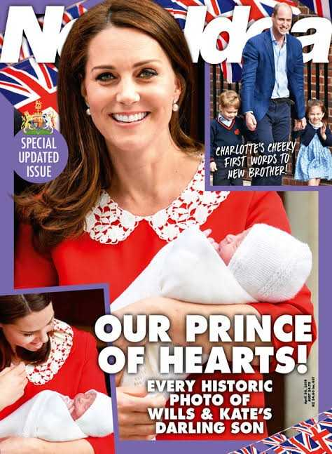 p - SPECIAL UPDATED ISSUE CHARLOTTE ' S CHEEKY FIRST WORDS TO NEW BROTHER ! OUR PRINCE OF HEARTS ! EVERY HISTORIC PHOTO OF WILLS & KATE ' S DARLING SON - ShareChat