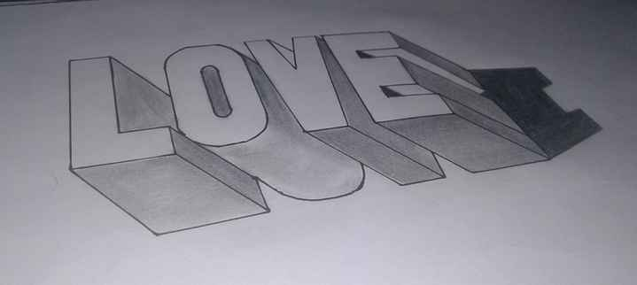 pencil art... - LOVE - ShareChat