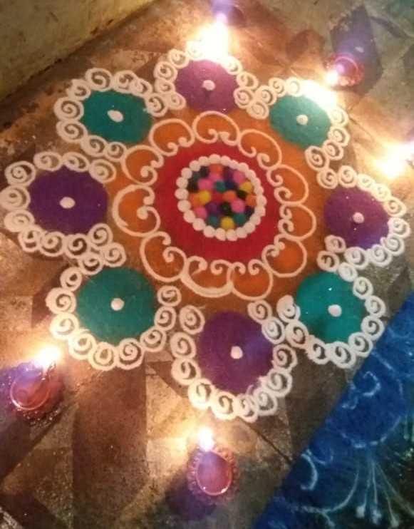 rangoli - 2000 pot అలంలో 2000 - ShareChat