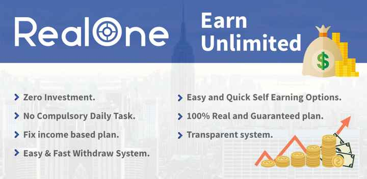 real facts - Realone Unlimited Earn > Zero Investment . > Easy and Quick Self Earning Options . > No Compulsory Daily Task . > 100 % Real and Guaranteed plan . > Fix income based plan . > Transparent system . > Easy & Fast Withdraw System . - ShareChat