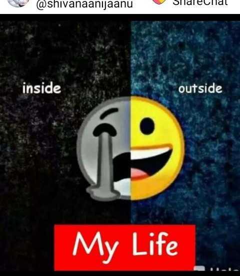 sadness - @ shivanaanijaanu SideCildl inside outside My Life - ShareChat