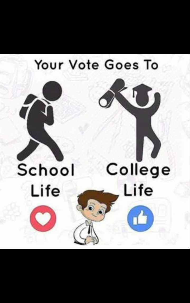school life 🚸 - Your Vote Goes To School Life College Life - ShareChat