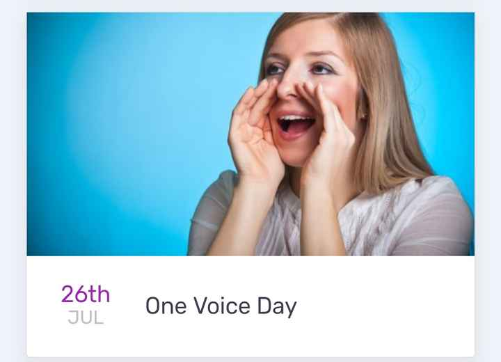 today's events ⌛ - 26th One Voice Day - ShareChat