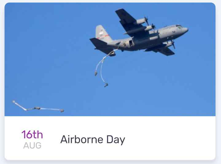 today's events ⌛ - 16th Airborne Day AUG - ShareChat