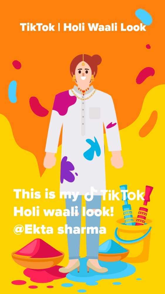 velly uthe by dilpreet dhillon - | Holi Waali Look This is my o Holi waali look ! @ Ekta sharma - ShareChat