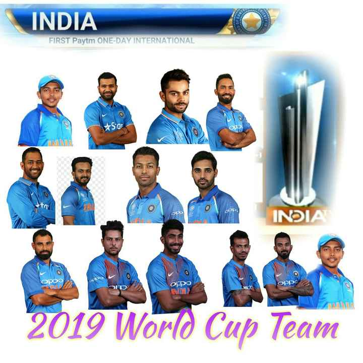 virat  kohli - INDIA FIRST Paytm ONE - DAY INTERNATIONAL Stor OPPO OPP INDIA OPDO OPPO Oppo oppo NI CINZA 2019 World Cup Team - ShareChat