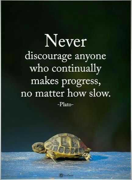 🖋 शेयरचैट Quotes - Never discourage anyone who continually makes progress , no matter how slow . - Plato - ShareChat